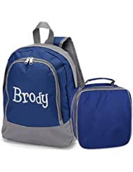 aBaby Brody Preschool Backpack and Lunch Bag Combo, Name Blake