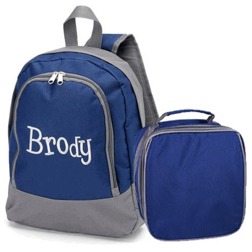 aBaby Brody Preschool Backpack and Lunch Bag Combo, Name (Brody Costume)