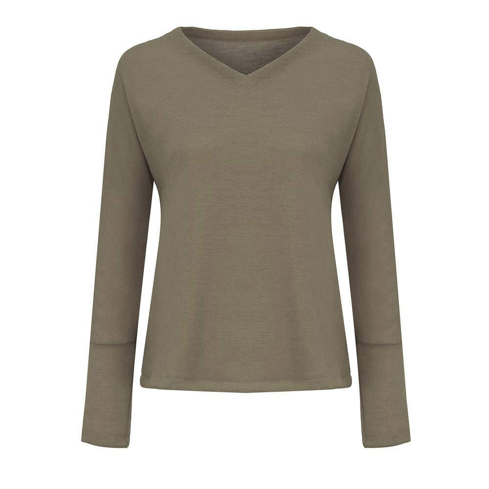 Amazon.com: Gift Ideas! Teresamoon Women Casual Loose Deep V Neck Solid Color Knitted Tops Sweater and Blouse: Arts, Crafts & Sewing