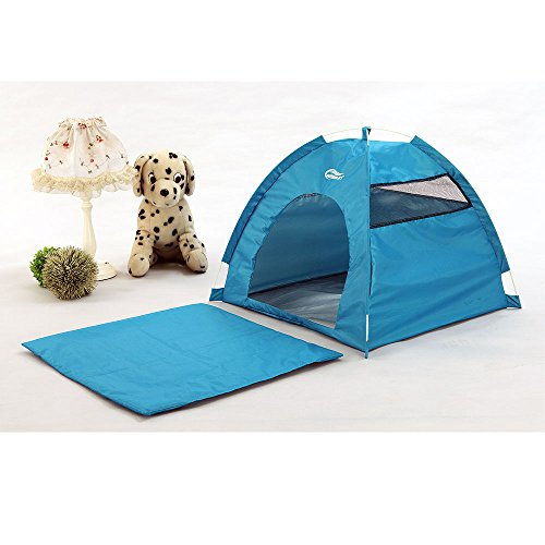 One-Touch Portable Folding large Dog House tent for indoor,outdoor waterproof (blue)
