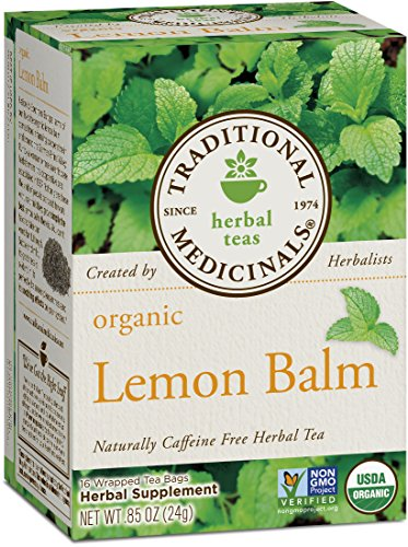 Traditional Medicinals Organic Lemon Balm Tea, 16 Tea Bags (Pack of1) (Organic Coffee Lemon)