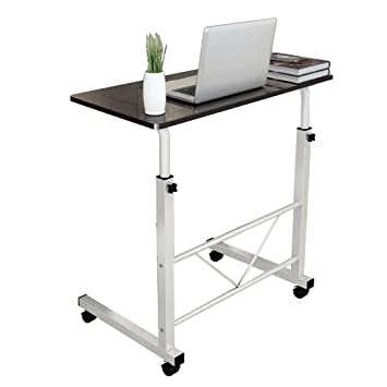 Ordinaire Dland Laptop Stand Adjustable 31.4u0026quot; Medium Size Computer Standing Desk  Portable Cart Tray Side Table