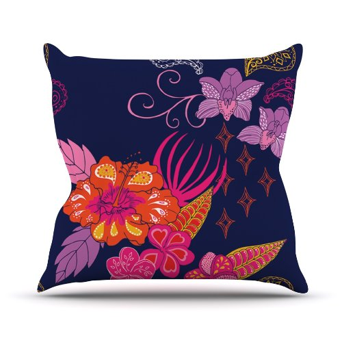 Kess InHouse Anneline Sophia - Purple Abstract Throw Pillow