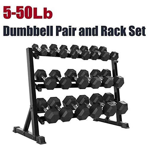 CAP Barbell SDRS-550R-14A Rubber Hex Dumbbell Weight Set, 550 (Best Cap Rubber Hex Dumbbells)