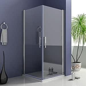 80 x 70 x 195 cm de ducha puerta puertas de ducha mampara de entrada por la esquina con plato de ducha: Amazon.es: Bricolaje y herramientas