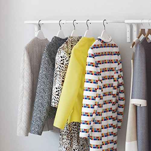 Clothes Bar, Adjustable Width Multi Purpose Wall Hanging Closet Organizer Rack Display, Durable Steel Material