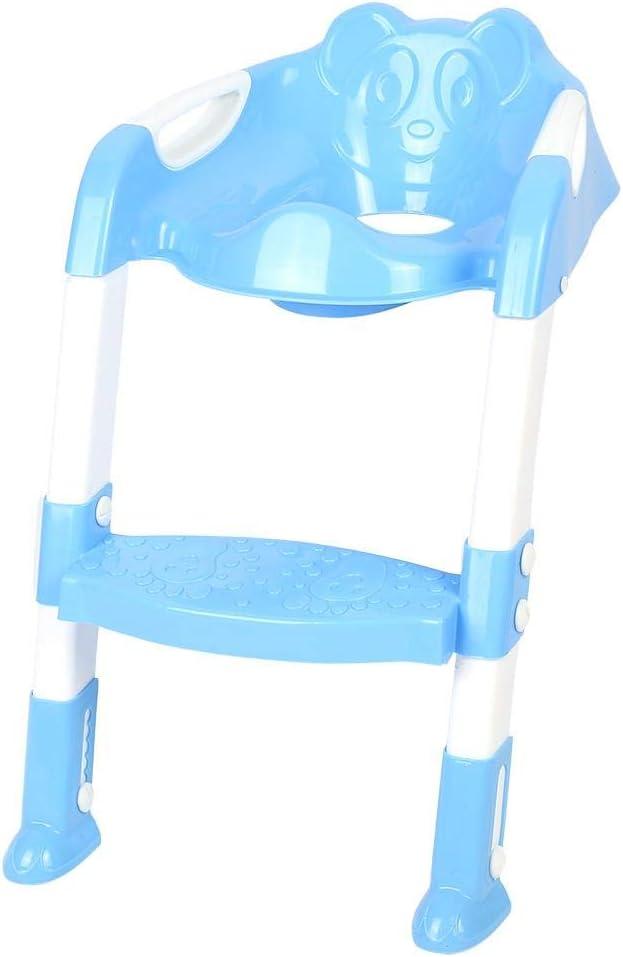 lyrlody Aseo Escalera Asiento Escalera del Tocador de Niños Plegable, Asiento para WC con Escalón Adaptador WC Escalera Infantile, Antideslizante Color Azul: Amazon.es: Hogar