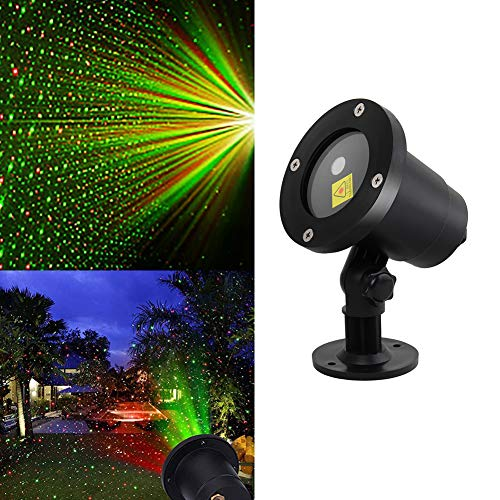 YL Christmas Laser Lights Projector by Rotating LED Holiday Laser Red and Green Outdoor Garden Christmas Holiday Party Decoration Waterproof 5M Cable with RF Remote (Panoramic Projector Christmas)