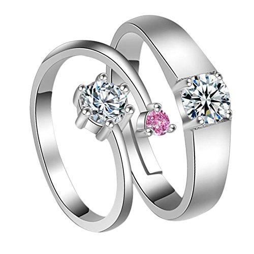 Youkara Promise Series Couple Ring Fashion Lovers Ring Valentine's Day Wedding Anniversary Gift (LOVE)