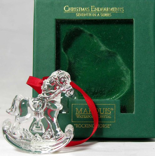 Marquis Waterford Crystal Christmas Endearments Rocking Horse Ornament Seventh in Series