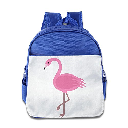 XJBD Custom Personalized Pink Flamingos Children Schoolbag For 1-6 Years Old RoyalBlue