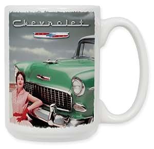 """Art Plates""""55 Chevy"""" Ceramic Coffee Mug, 15 oz"""