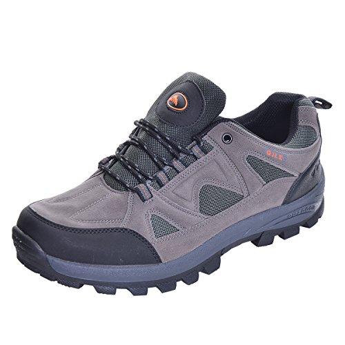 Slduv7 Men Autumn Hiking Boots Casual Outdoor Waterproot Mountain Boots Lace Up Platform Treeking Shoes Grey Cj6rM