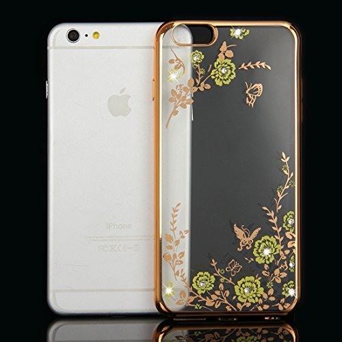 Phone Taschen & Schalen Für iPhone 6 Plus & 6s Plus Blumen Muster Galvanisieren Soft TPU Schutzhülle Fall ( SKU : IP6P0010B )