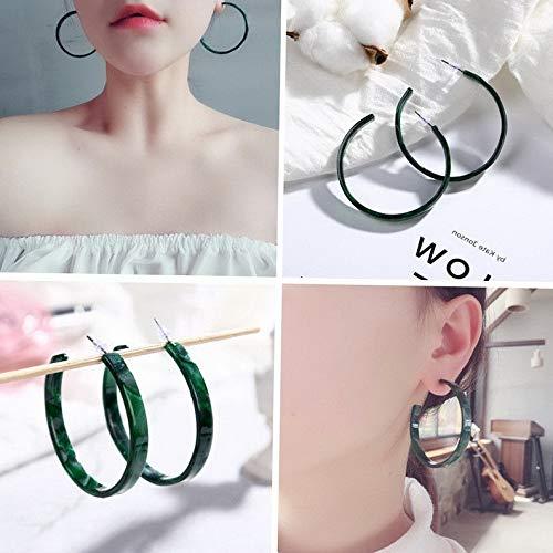 - Crookston Elegant Women Acrylic Geometric Pendant Dangle Statement Earrings Jewelry Gift   Model ERRNGS - 1212  