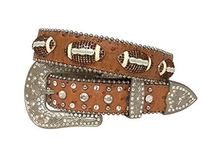 Kids Western Cowboy Cowgirl American Football Rhinestone Studded Shinny Belt