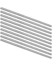 uxcell Round Steel Rod, 5mm HSS Lathe Bar Stock Tool 150mm Long, for Shaft Gear Drill Lathes Boring Machine Turning Miniature Axle, Cylindrical Pin DIY Craft Tool, 10pcs