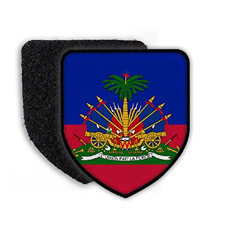 Flag of Haiti country state coat of arms - Patch/Patches