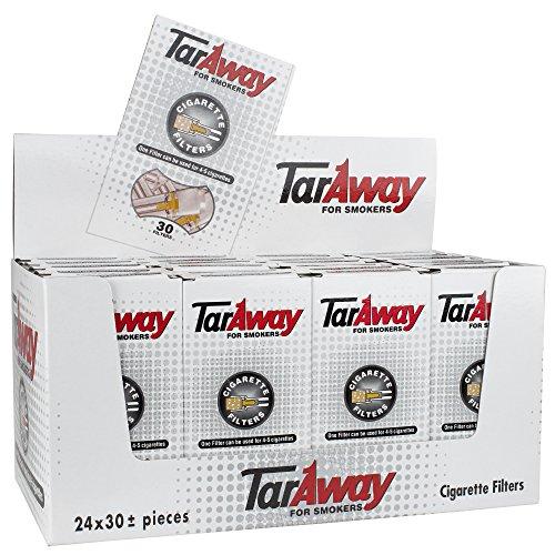 Taraway Cigarette Filter Tube Cartridges | Bulk Tobacco Smoker 24 Pack | 30 Filters per pack | 720 Total Filters