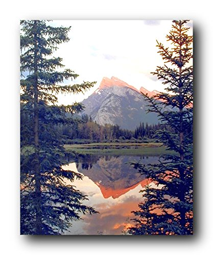 Wall Decor Reflection of a Mountain in a Lake Banff National Park Alberta Canada Art Print Poster (16x20)