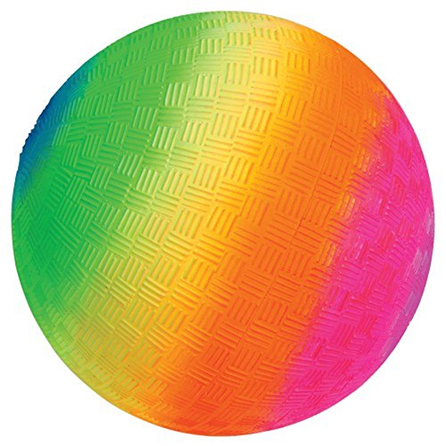 rainbow theme playground kickballs
