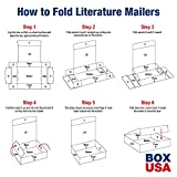"BOX USA BML874 Literature Mailers, 8"" x 7"" x"