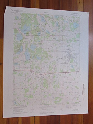 Chelsea Michigan 1977 Original Vintage USGS Topo - Mills Sugarloaf Map