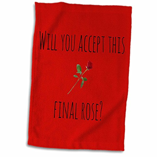 3D Rose Will You Accept This Final Picture of Rose Black Lettering TWL_172467_1 Towel 15