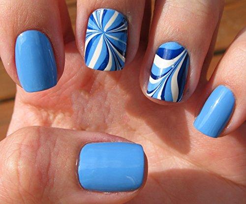 Paradise Blue Nail Wraps, Half Sheet, Jamberry Nail Wraps