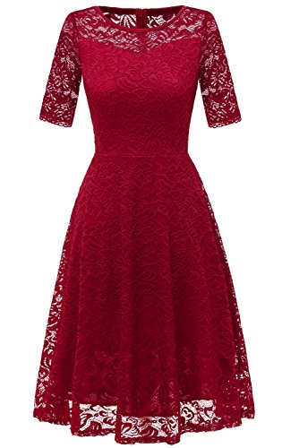 Avril Dress Princess Lace Half Sleeves Cocktail Party Dress Homecoming Dress for (Lace Princess Sleeves)