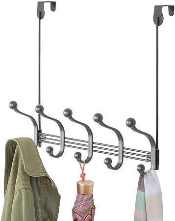 Blanc etc patere de Porte Chapeaux mDesign Porte-Manteau Porte avec 10 Crochets Peignoirs Serviettes patere Porte pour Manteaux
