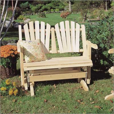 Rustic Natural Cedar Furniture Loveseat Patio Glider (Loveseat Glider Cedar Natural)