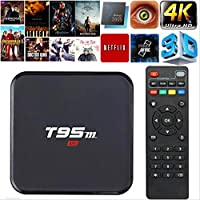 Andriod Smart TV Box, Hindotech T95M Set Top Box Amlogic S905X Quad Core Android 6.0 4K HD Media Player 1GB/8GB 2.4GHz WiFi