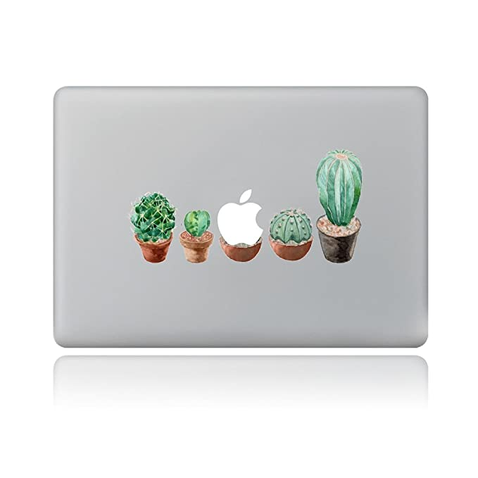 GTNINE MacBook Stickers Decals Laptop Decorative Skins Removable Vinyl Sticker for MacBook 13 inch Pro/Air/Retina (Succulent Cactus Potted) best decorative laptop stickers
