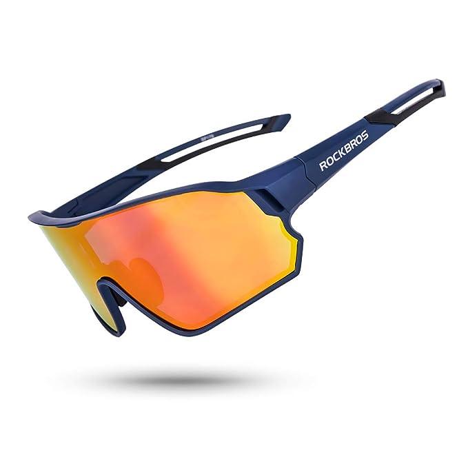 ROCK BROS Polarized Sunglasses UV Protection for Women Men Cycling Sunglasses Bike Glasses Yellow Sport Fishing Running Climbing Driving