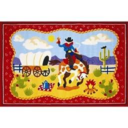 Olive Kids Ride \'Em Cowboy Kids Rug Rug Size: 3\'3\