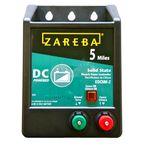 Zareba EDC5M-Z 5-Mile Battery Operated Solid State Electric Fence Charger (Best Electric Fence For Pigs)