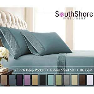 southshore fine linens 4 piece extra deep