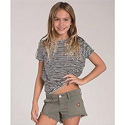 Billabong Girls Peace Patch Shorts Walkshort 7 Seagrass