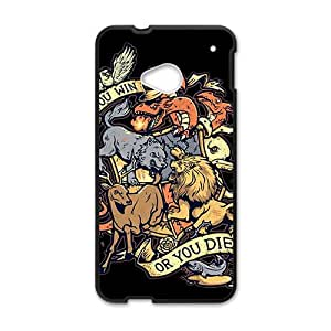 Personalized Customization Game of Thrones Black Phone Case For HTC M7