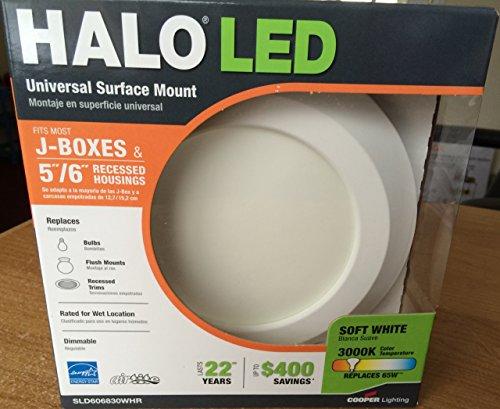 Halo 80CRI LED Flush Mount Disk Light, 6-Inch, White
