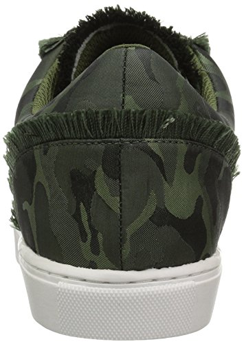 La Sneaker Stringata In Raso Color Verde Autunno Camo