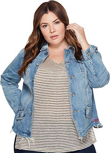 Lucky Brand Women's Plus Size Waisted Trucker Jacket, Jones, 1X by Lucky Brand
