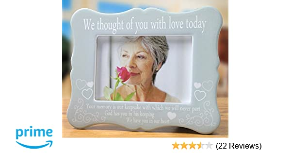 Amazon.com - Banberry Designs Memorial Frame - We Thought of You ...
