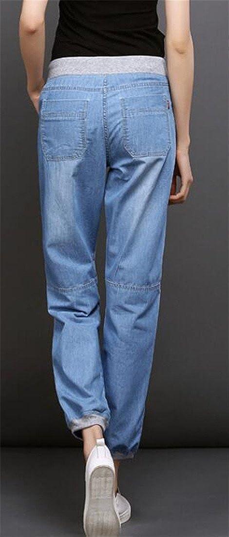ARTFFEL Mens Print Cotton Linen Drawstring Relaxed Fit Casual Harem Pants