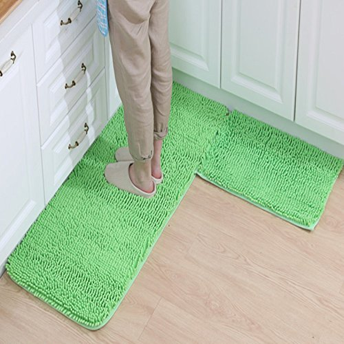 FREE SHIPPING Ustide Sofe Shaggy Chenille Rug 2-Piece
