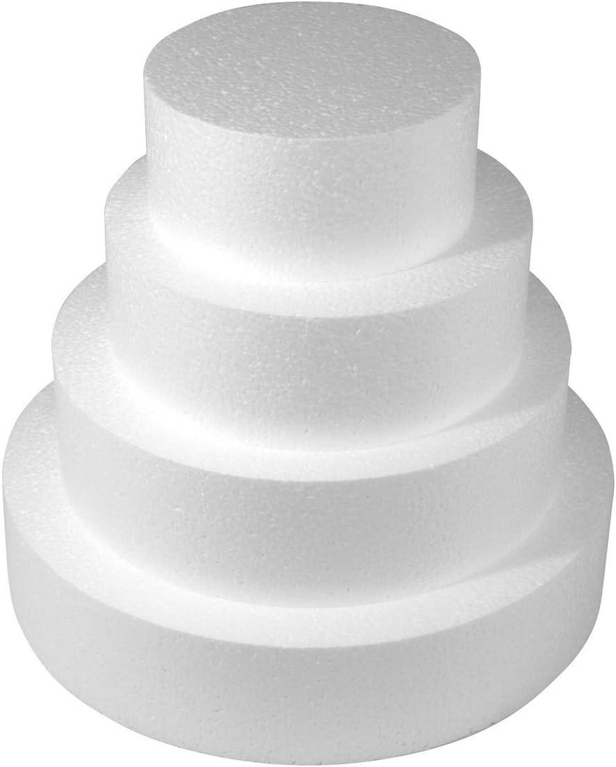 Idea party Base per Torta Circolare in Polistirolo Altezza 7,5 cm Cake Desing Diametro 10