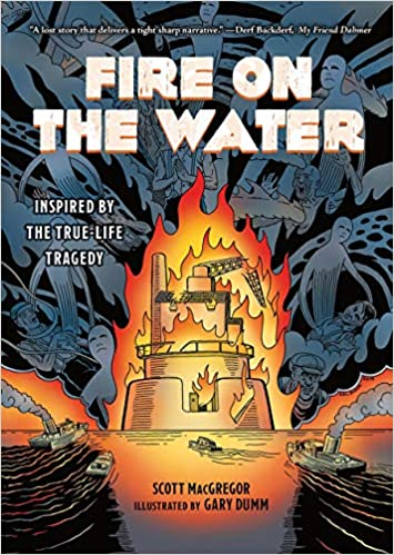Book cover for Fire on the Water by Scott MacGregor