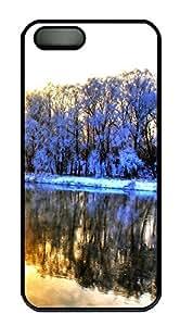 iPhone 5 5S Case Very beautiful snow PC Custom iPhone 5 5S Case Cover Black