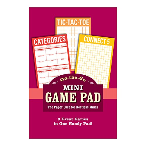 Knock Knock Mini On-The-Go Game Pad 2, Small Travel Activity Notepad, 4 x 6-inches